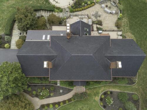 Davinci Synthetic Slate_front aerial view